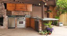 Un angolo di cucina all'aperto - consigli per la casa e non solo