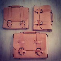 Maletin Cuero Leather Notebook Briefcase Macbook handmade