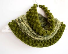 Green Multicolor Cowl by Yanettine on Etsy