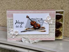 Cards and Creations: Music Toffifee Cute Packaging, Chocolate Box, Diy And Crafts, Wraps, Gift Wrapping, Chocolates, Musicians, Boxes, Gifts