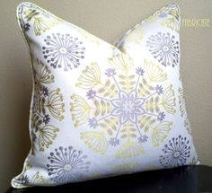 Ready to ship!    Waverly Kaleidoscope in Sterling - Pillow Cover    Pillow cover is 18 square  Reversible    This beautiful fabric is complemented