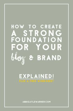 BEFORE YOU CAN HAVE A POPULAR BUDDING BRAND , YOU NEED TO BUILD A FOUNDATION . HERE ARE SOME TIPS- HOW TO CREATE A STRONG FOUNDATION FOR YOUR BLOG & BRAND