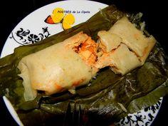 La Cipota: Tamales Salvadorenos. Gma makes it potato, carrot, pork/chicken.- DONE he wants cheese in them wth