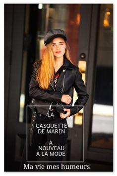 La casquette de marin est à nouveau à la mode et c'est Amal qui vous en parle sous forme de magazine. #mode Jolie Photo, Punk, Lifestyle, Magazine Mode, Shopping, Passion, Happy, Group, Shape