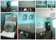 The Sweet Spot: The Nursery...ready for baby :)    A nursery including our custom Little Free Radical Elephants!