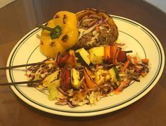 My version of a pulled pork sandwich. Pulled pork Stuffed grilled bell pepper, on bed of BBQ Slaw. W/ grilled pineapple, melon, and peppersZ Grilled Bell Peppers, Stuffed Peppers, Pork Sandwich, Sandwiches, Pulled Pork, Catering, Pineapple, Bbq, Daddy