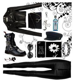 """Biker Contest"" by detroitgurlxx ❤ liked on Polyvore featuring Zeynep Arçay, ChloBo, Demonia, Yves Saint Laurent, Chloé, Casetify and Acne Studios"