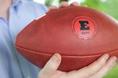 Are you looking for the perfect Father's Day gift, or is your Dad hard to buy for? If so, I highly recommend getting your Dad a customized football from Wilson Sporting Goods! They are SO easy to order and have tons of choices for teams and logos. I personalized my husband's with his initial and birth year
