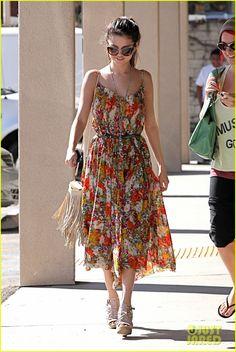 Selena Gomez } a very age appropriate dress