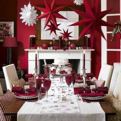 [ Red White Christmas Home Decoration Ideas Christmas Home Red Christmas Red Christmas Decorations ] - Best Free Home Design Idea & Inspiration Noel Christmas, Modern Christmas, Christmas And New Year, All Things Christmas, White Christmas, Beautiful Christmas, Christmas Ideas, Elegant Christmas, Christmas Parties