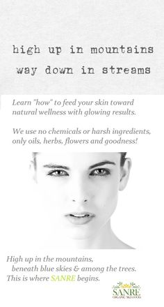 SanRe Organic Skinfood® is a family owned and operated, certified USDA Organic skincare company with the purest holistic, anti-aging, and nontoxic formulations Organic Herbs, Organic Oil, Organic Skin Care, Healthy Beauty, Healthy Hair, Healthy Food, Natural Skin, Natural Beauty, Skin Secrets