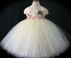Flower Girl Tutu Dress Baby Toddler Girls by TootieFruityTutuShop