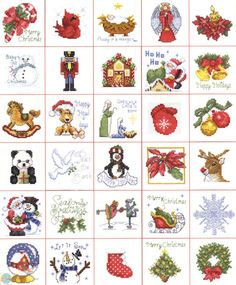 mini cross stitch jingle bell pattern - Google Search
