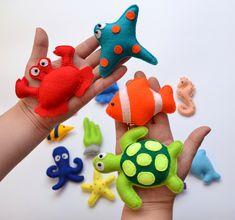felt sea animals