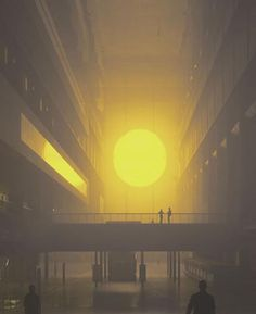 The weather project by Olafur Eliasson. Photographer: Jens Ziehe