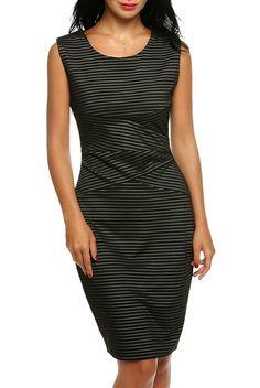 8be5c30c007b56 ANGVNS Damen Etuikleid Bleistiftkleid Business Kleid Bodycon Rüschen  Ärmellos Knielang Festlich Kleid