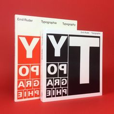 Fancy the vintage or reissued edition of Emil Ruder's 'Typography: A Manual of Design'? Find both books on Counter-Print.co.uk #counterprintbooks #emilruder #typography #typographie