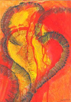 """""""Corazón"""", acrílico sobre papel."""