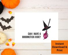 Halloween Card for Boyfriend, Halloween Card for Husband, Adult Witch Card