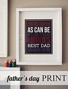 Father's Day Print - free printable