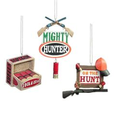 KSA Club Pack of 12 Shotgun Hunter Christmas Ornaments 4