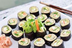 Fitt fazék kultúrblog : Krémsajtos, vegan sushi quinoával.