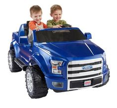Battery Powered Ford Truck Fisher Price Power Wheels Boys Kids Toddlers Car Blue #fisherpric3