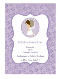 #First Communion Invitation #Primera Comunion #Silhouette # Cameo #Portrait…
