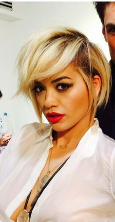 Rita Ora short hair, MIGHT grow my hair out to this!
