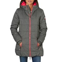 Superdry Tall Polar Sports Puffer Jacket - Grey | Free UK Delivery*