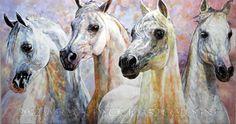 Horse art   Pferde gemalt: Arabian Horses   Arabische Pferde
