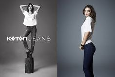 Bambi Northwood Blyth Stars in Koton Jeans Fall 2013 Ads by Emre Dogru