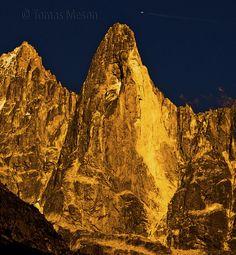Aiguille du Dru. Mont Blanc. French Alps. Chamonix