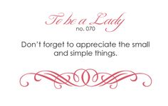 To be a lady no. 70
