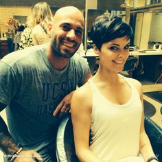 Jaime Alexander and the cutest pixie i've ever seen....
