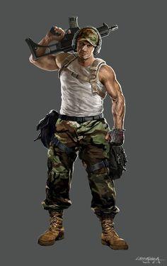 Rifleman, dongsheng li on ArtStation at https://artstation.com/artwork/rifleman-bb9f69b6-6301-41d2-a453-787e8bc1daf0