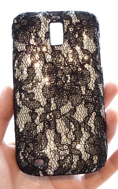 For Samsung Galaxy S2 T989 Sequin Flower Lace Phone Case Cover by Yunikuna