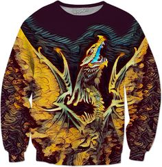 Dark Dragon Trance Custom Fantasy Style Sweatshirt by Willy Badu.