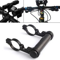 Carbon Fiber Bicycle Bike Extender Holder For Light Extended 31MM Flashlight Mount