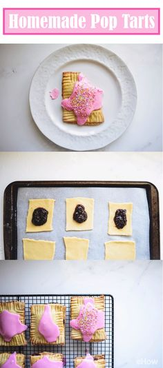 Hello homemade pop tarts!! Once you make these at home, you will never want to get store bought versions again. SO easy to make and so much more delicious/nutritious than the overly sweetened treats at the store. Plus, they are super impressive -- your kids and party guests will LOVE them: http://www.ehow.com/how_12343207_delicious-homemade-pop-tarts-recipe.html?utm_source=pinterest.com&utm_medium=referral&utm_content=freestyle&utm_campaign=fanpage