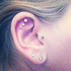 Triple inner helix with tragus