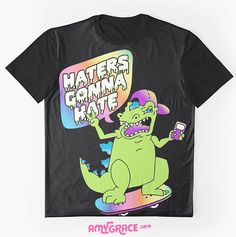 """""""Haters Gonna Hate"""" pastel goth Reptar t-shirt for teens"""