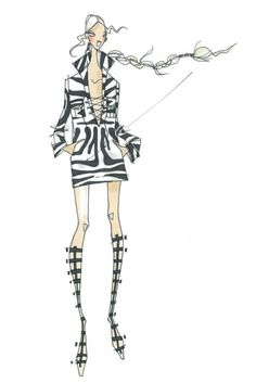 Fashion sketch spring 2014 fashion trends WWD