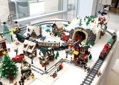 Kids' Almanac: Meet a real reindeer, build a LEGO Christmas City, bid Sinterklaas bon voyage Village Lego, Lego Christmas Village, Lego Winter Village, Christmas Villages, Christmas Houses, Christmas Pics, Christmas Wreaths, Christmas Decorations, Villas