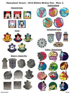 Hidden Mickey pins are released twice a year to Disney Cast Members to be traded with guests. Description from disneypinsblog.com. I searched for this on bing.com/images