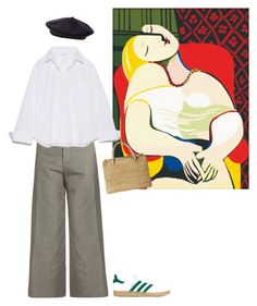 """MARSEILLE"" by pauline93 ❤ liked on Polyvore featuring Jacquemus, adidas Originals and Toast"