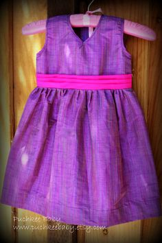 Pretty, purple party dress, summer dress, flower girl outfit for toddler girl by Puchkee Baby on Etsy Frock Patterns, Baby Dress Patterns, Little Girl Dresses, Girls Dresses, Baby Dresses, Purple Party Dress, Frocks And Gowns, Baby Frocks Designs, Kids Gown