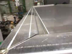 Freshly folded aluminum