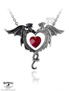 Alchemy-Gothic-Coeur-Sauvage-Dragon-Pendant-Necklace-0