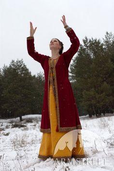 Medieval Linen Dress Wool Coat and Chemise Helga por armstreet